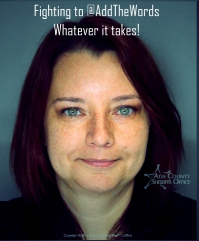 Cindy Gross - Arrested in support of Add the Words, Idaho Feb 27, 2014